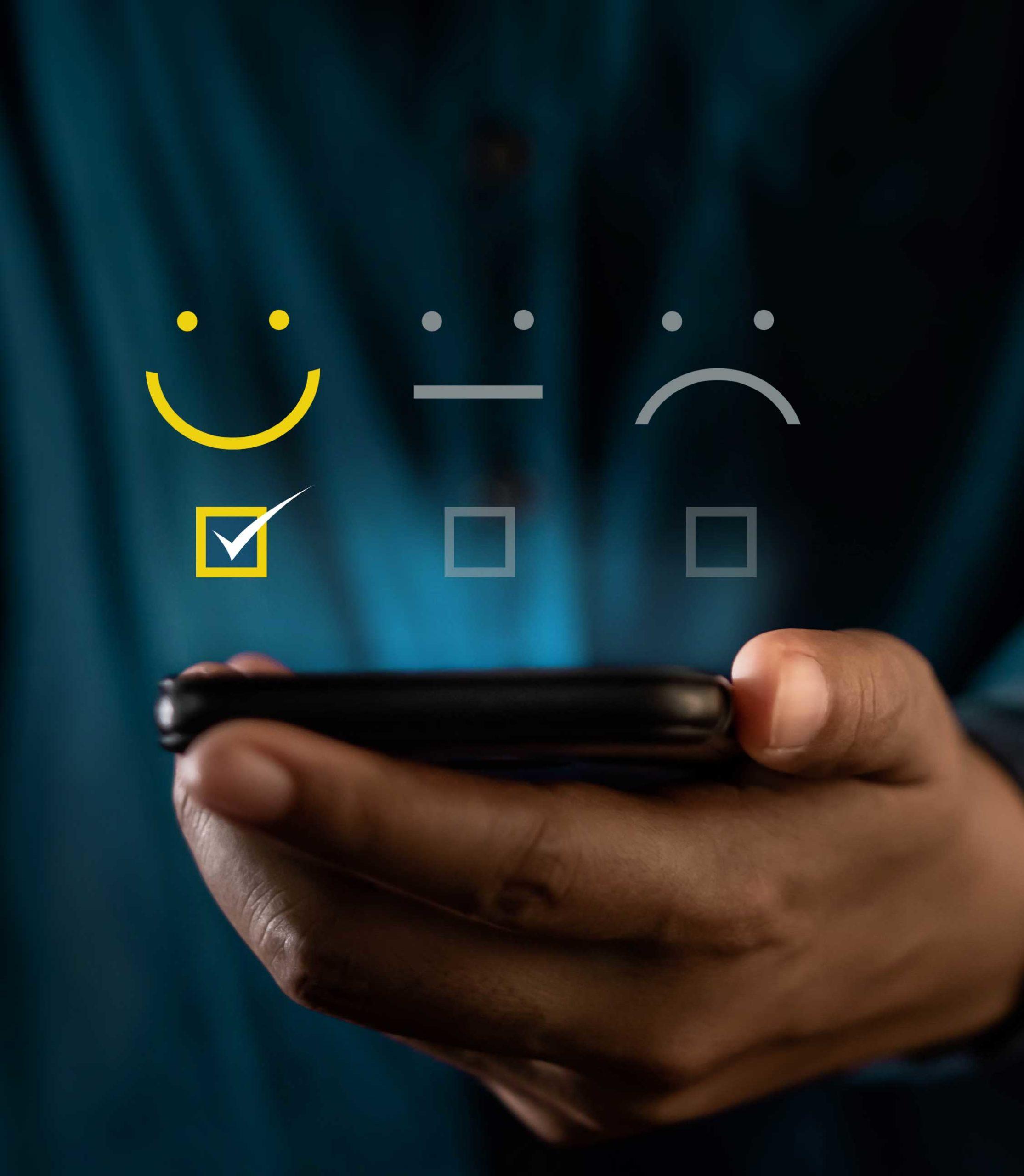 emoji client satisfait